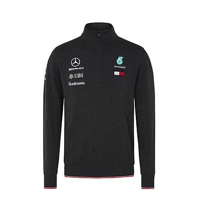 ad02cd1bb3f Mercedes-AMG Petronas Motorsport 2018 Men s Team Knitted Jumper Grey