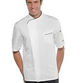Veste de cuisine blanche en tissu microfibre Superdry Vestes