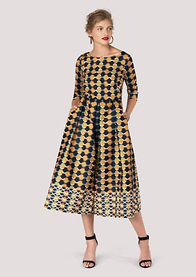 c6a14ee0e5 Closet GOLD Geometric Chain Full Skirt Dress