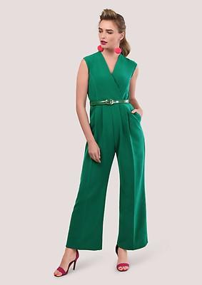 279c19cc94ad Green Sleeveless Princess Seam Jumpsuit