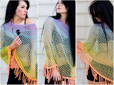 Knitwork By Ina Strickanleitung Sommer Poncho Myboshinet