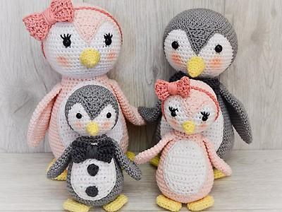 Kristinasart Häkelanleitung Pinguin Myboshinet
