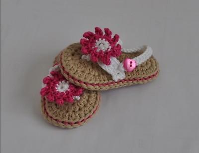 Woolaffair Häkelanleitung Für Babyschuhe Sandalen No3 Myboshinet