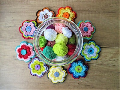 Leomaxi Crochet Flower Power 3d Blume Häkeln Myboshinet