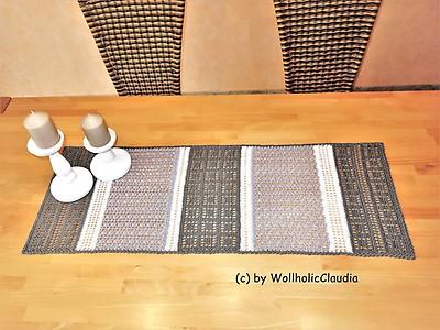 Kreatives Stricken Häkelanleitung Tischläufer Viola Myboshinet