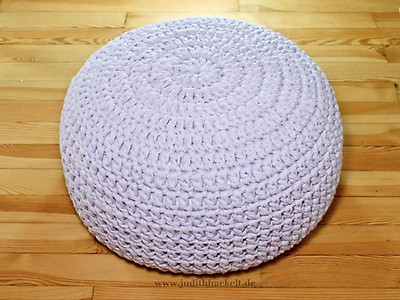 Alpenglühn 22 Sitzpouf Sitzkissen Aus Textilgarn Häkelanleitung E