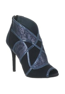 3947de9e149 Glamour Lottie Diamante Strap Mid Heel Sandals, Navy | McElhinneys
