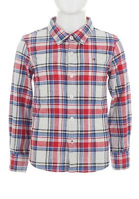 9fd0888f16cf Tommy Hilfiger Boys Cotton Check Shirt, Red