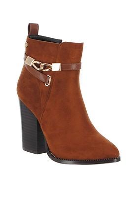 0b6ac76c97c4b Caprice Leather Stud Block Heeled Boots, Black   McElhinneys