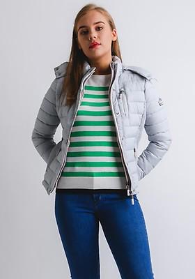3beebc15a7a Superdry Womens Fuji Double Ziphood Jacket, Grey