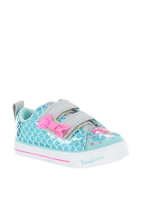 4a795a79a09f Skechers Baby Girls Twinkle Toes Light up Trainers, Turquoise