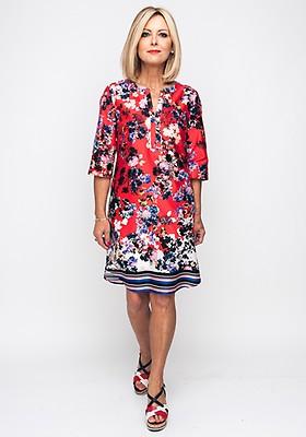 d3a44ba789ff Seventy1 Patchwork Flower Long Dress, Blue Multi | McElhinneys