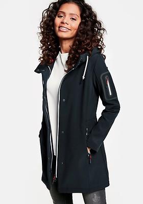 4890cc8ba4626f Taifun Long Softshell Hooded Jacket, Black