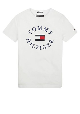 a004ae688815 Tommy Hilfiger Boys Short Sleeve Logo T-Shirt, White