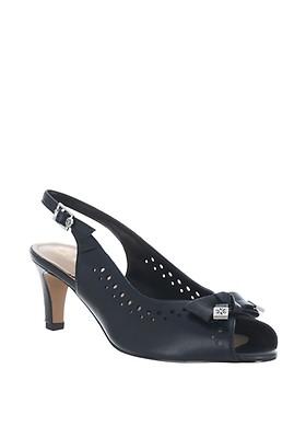 740952e6 Van Dal Forester Suede Shimmer Block heel Sandals, Navy | McElhinneys