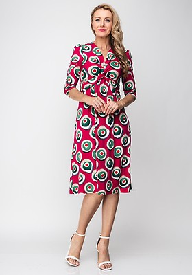 7622cb49e254 Seventy1 Patchwork Flower Wrap Dress, Multi | McElhinneys
