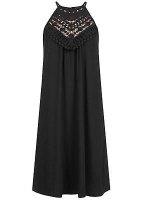 7113d410b814 Styleboom Fashion Damen A-Linie Kleid Häkelbesatz beige. 19,99€ 1).  Styleboom ...