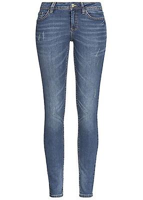 a4491e90cca204 ONLY Damen Jeans Hose Deko Steine 5-Pockets Zipper seitlich hell ...