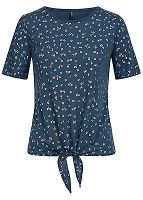 9b77cba7353498 ONLY Damen T-Shirt Blumen Muster cloud dancer weiss silber ...