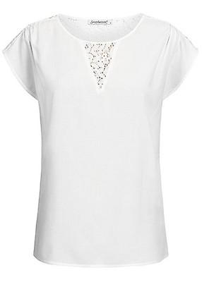 1e8d154af1f34a Seventyseven Lifestyle Damen Shirt Lace Detail navy blau - 77onlineshop