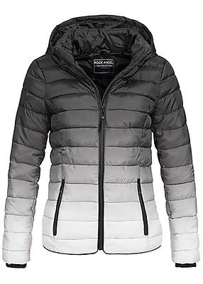 Seventyseven Lifestyle Damen Winter Parka Kapuze Zipper