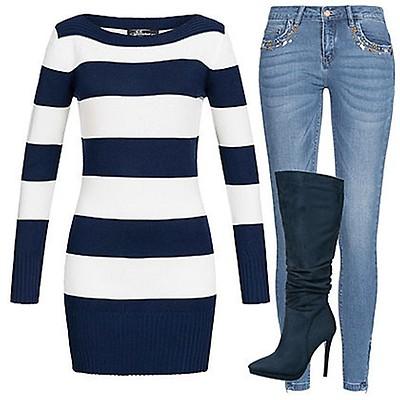 ebebe50929c0d1 ONLY Damen Jeans Hose Deko Steine 5-Pockets Zipper seitlich medium ...