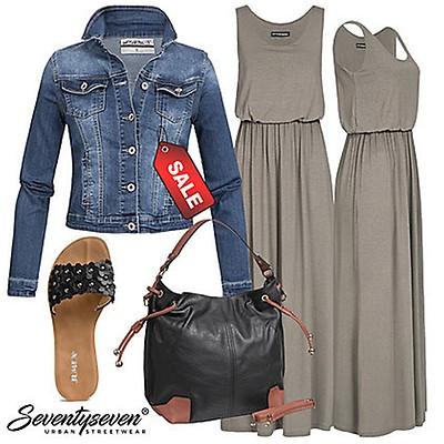 ccdad0b208f4 Styleboom Fashion Damen A-Linie Kleid Häkelbesatz fango braun ...