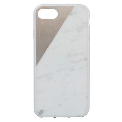 Clic Marble Metal Iphone 7 Case White