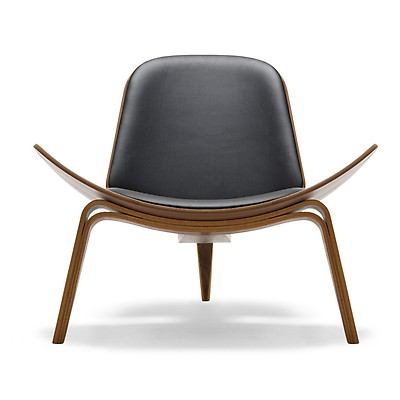 Ch07 Shell Chair Oiled Walnut Loke Leather