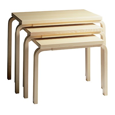 Nesting Tables 88 Birch Natural Lacquered