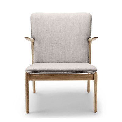Ow124 Beak Chair Oiled Oak Kvadrat Wool
