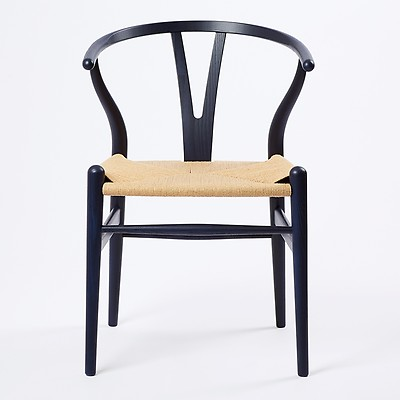 Ch24 Wishbone Chair Soaped Oak Natural Paper Cord Seat The