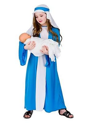 Childrens White Joseph Nativity Robe Fancy Dress Costume Christmas Performance