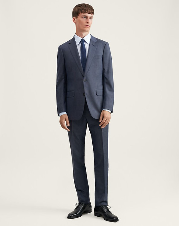 8bfc8937b46789 Men's Navy Stripe Summer Kid Mohair Mayfair Suit | dunhill UK Online ...