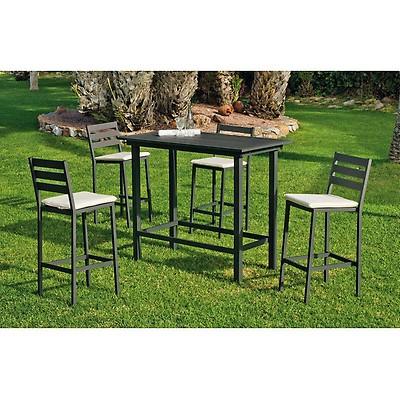 Table de jardin mosaique et 4 chaises en fer forgé - Jardin et Saisons