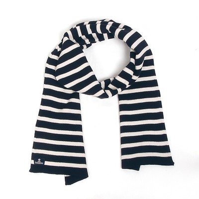 7840bd618192 Écharpe pagaie marine blanc - Écharpes, foulards, cheichs, étoles ...