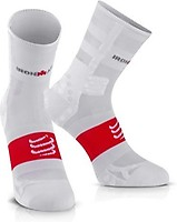 d28897d55 Compressport Calcetines Pro Racing Socks Bike V2.1 Blanco-Rojo - BULEVIP