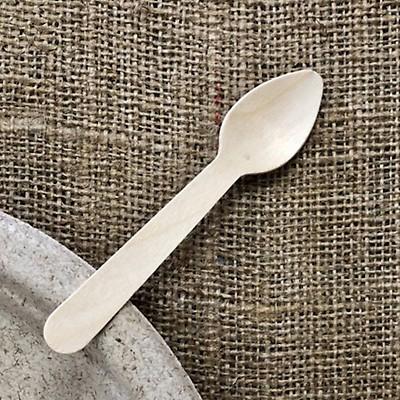En bois Birchwood jetables écologiques couverts fourchettes-Pack de 100