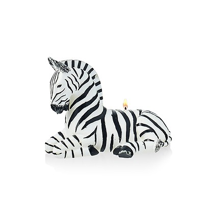 Reed Diffuser Gift Set Of 2 Zebra Animal Glass Scented Candle Pots Tea Light
