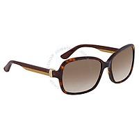 Deals on Salvatore Ferragamo Tortoise Oval Sunglasses SF606S 214