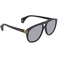 Deals on GUCCI Grey Polarized Pilot Men's Sunglasses