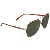 Deals on Salvatore Ferragamo Green Aviator Mens Sunglasses