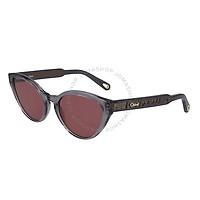 Deals on CHLOE Red Cat Eye Ladies Sunglasses CE757S 035 55
