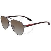Deals on Prada Linea Rossa Green Gradient Aviator Mens Sunglasses PR