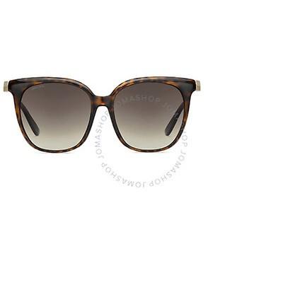 Jimmy Choo Brown Shaded Mirror Oversized Ladies Sunglasses
