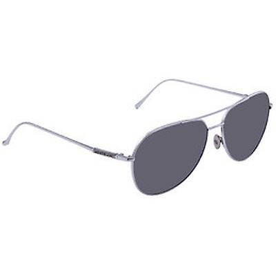 78c60784d1 Prada Light Grey Mirror Grad Silver Round Ladies Sunglasses PR 51SS ...