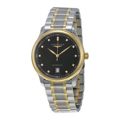 Longines Master Champagne Diamond Dial Men's Watch L2.628.5.38.7  L2.628.5.38.7 - Watches, Longines - Jomashop