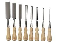 Bahco BAH424PS8 424-P Bevel Edge Chisel Set 8 Wood Box