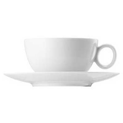 Kjøp HK Kaffekopp 33 cl hvit blank med trefat hos Confident Living e887bf15cb59f