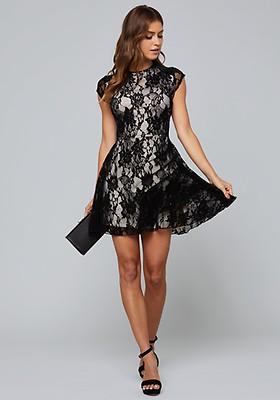 f63607f8232 Laced Deep V Jumpsuit. $169.00. -%. Velvet Lace Flared Dress